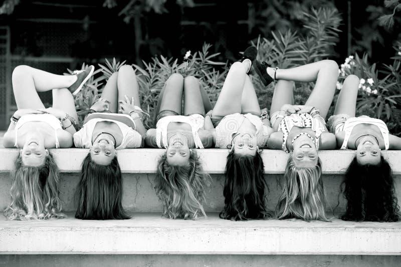 Meninas com cabelo longo imagens de stock royalty free