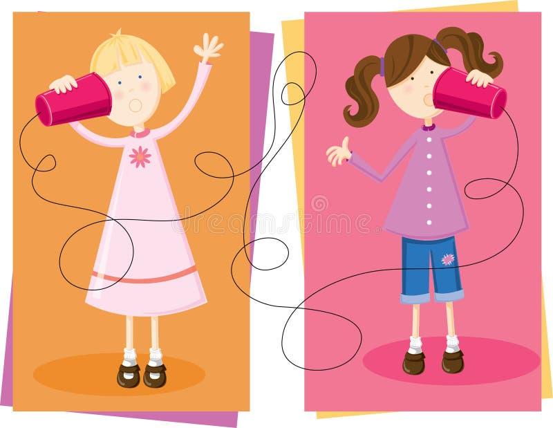 Meninas da bisbolhetice ilustração royalty free
