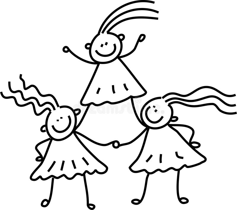 Meninas da equipe ilustração royalty free