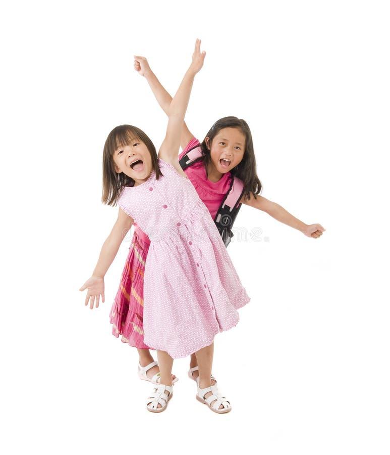 Meninas da escola imagem de stock royalty free