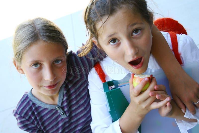 Meninas da escola fotografia de stock royalty free