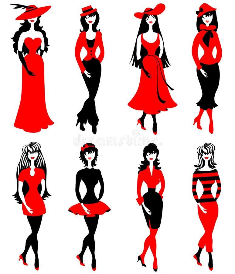 Meninas da forma ilustração do vetor