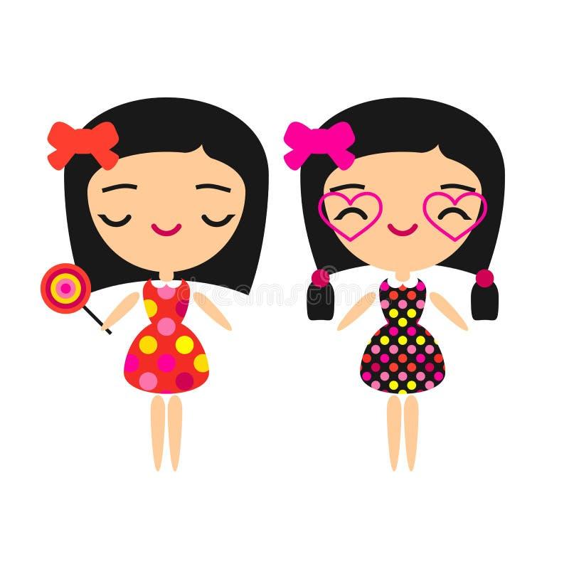 Meninas da forma ilustração stock