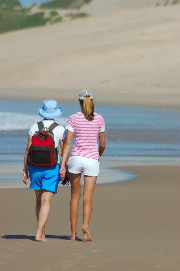 Meninas da praia foto de stock