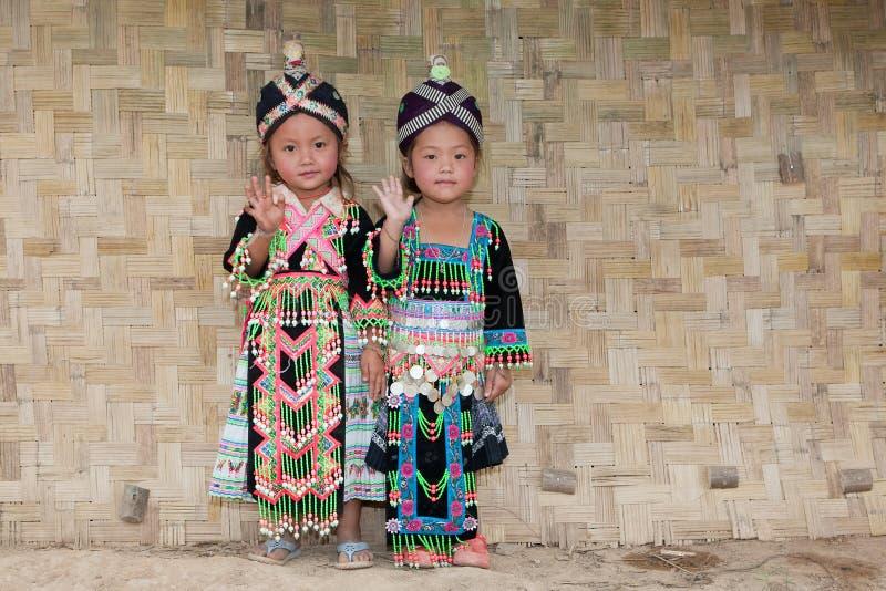 Meninas de Ásia Hmong foto de stock royalty free