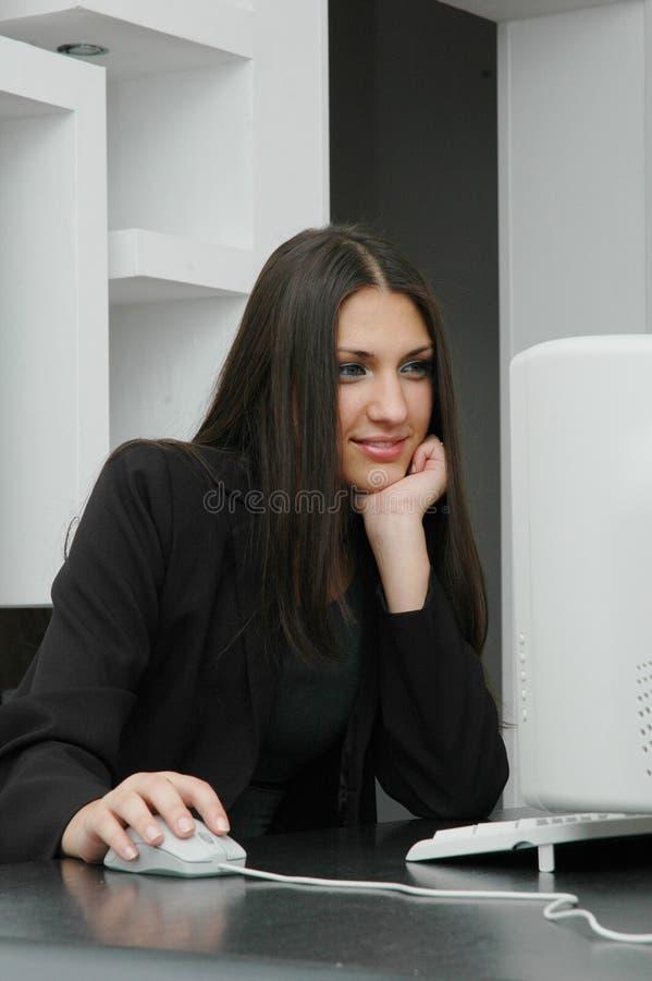 Meninas de escritório fotografia de stock royalty free