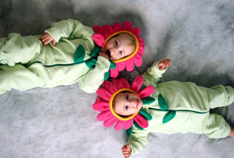 Meninas de flor fotografia de stock