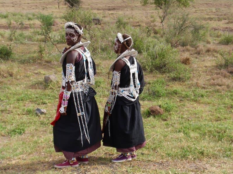 Meninas de Maasai imagens de stock