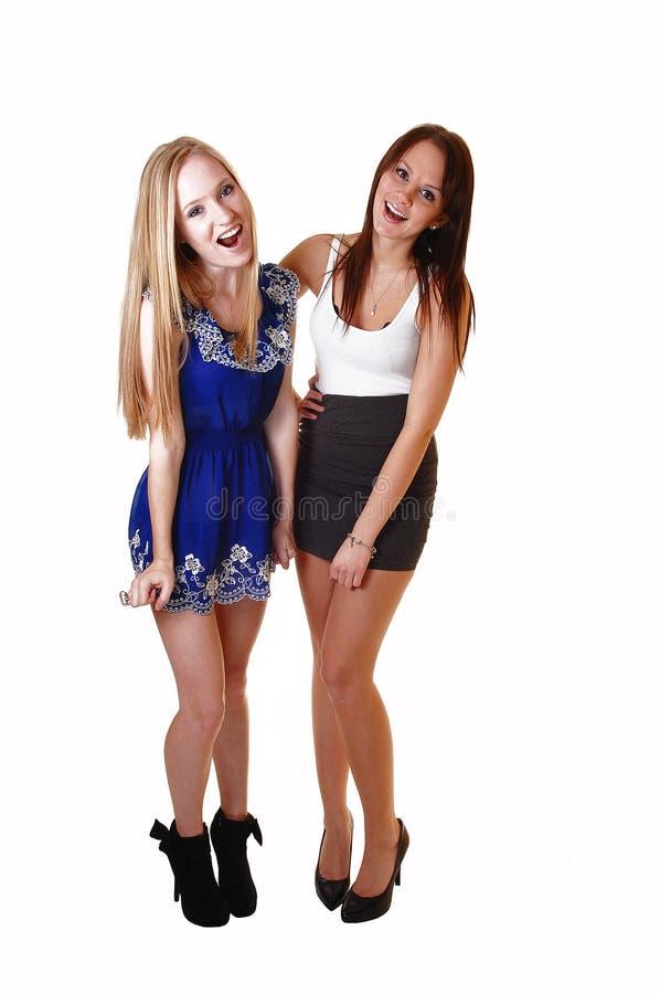 Meninas de riso. imagens de stock royalty free