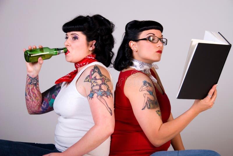 Meninas de Rockabilly. fotos de stock