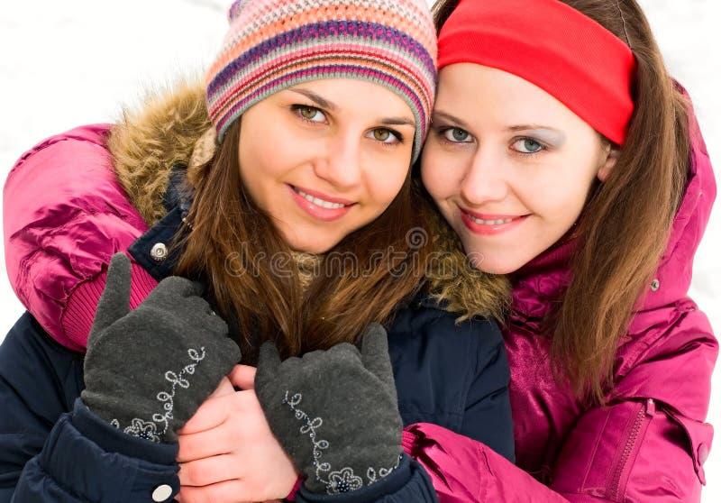 Meninas de sorriso foto de stock royalty free