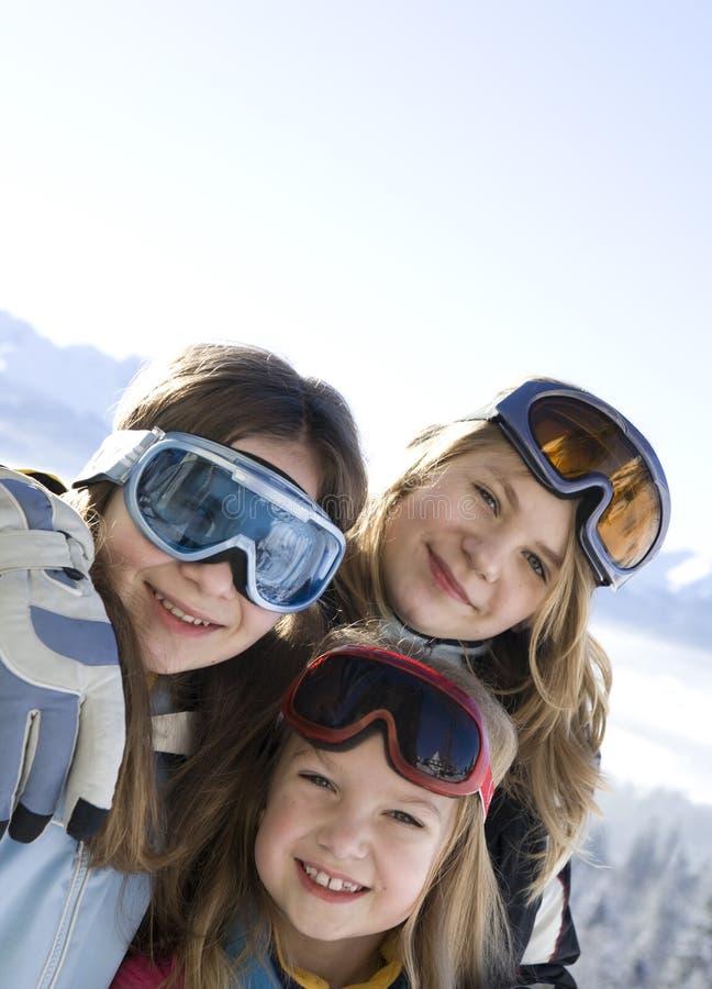 Meninas de sorriso novas imagem de stock royalty free