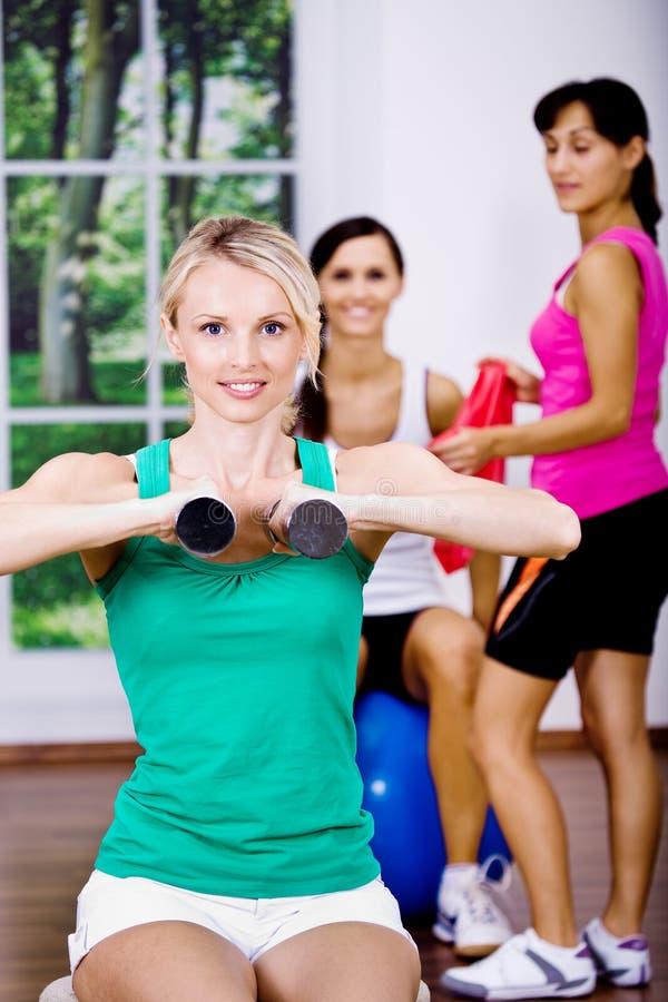 Download Meninas do Aerobics imagem de stock. Imagem de atividade - 16874501