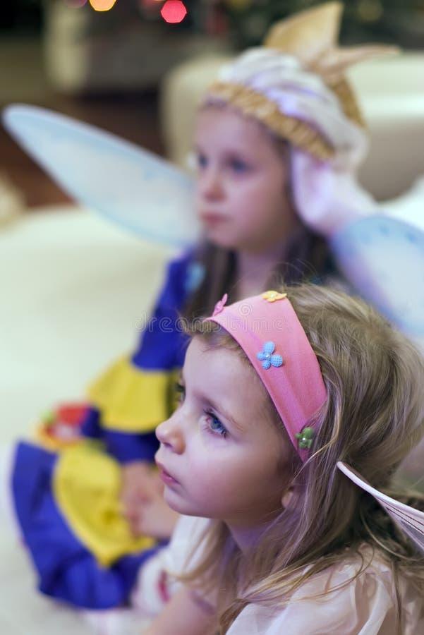 Meninas do anjo imagens de stock royalty free