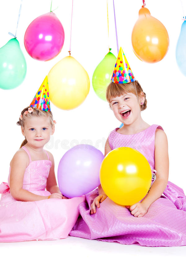 Meninas do balão foto de stock royalty free