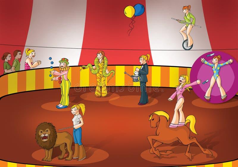 Meninas do circo ilustração stock