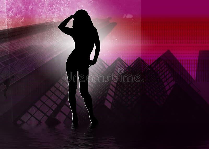 Meninas do clube de noite ilustração stock
