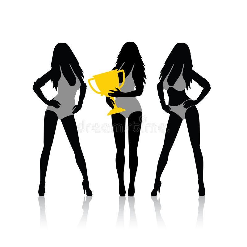 Meninas do Fórmula 1 ilustração do vetor