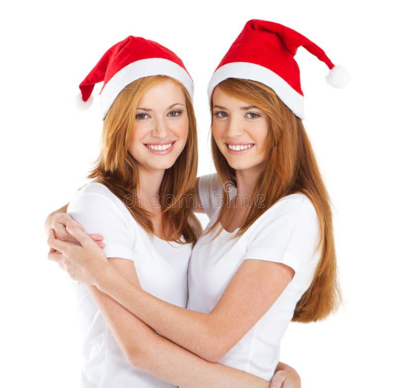 Meninas do Natal imagens de stock royalty free