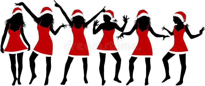 Meninas do Natal ilustração stock