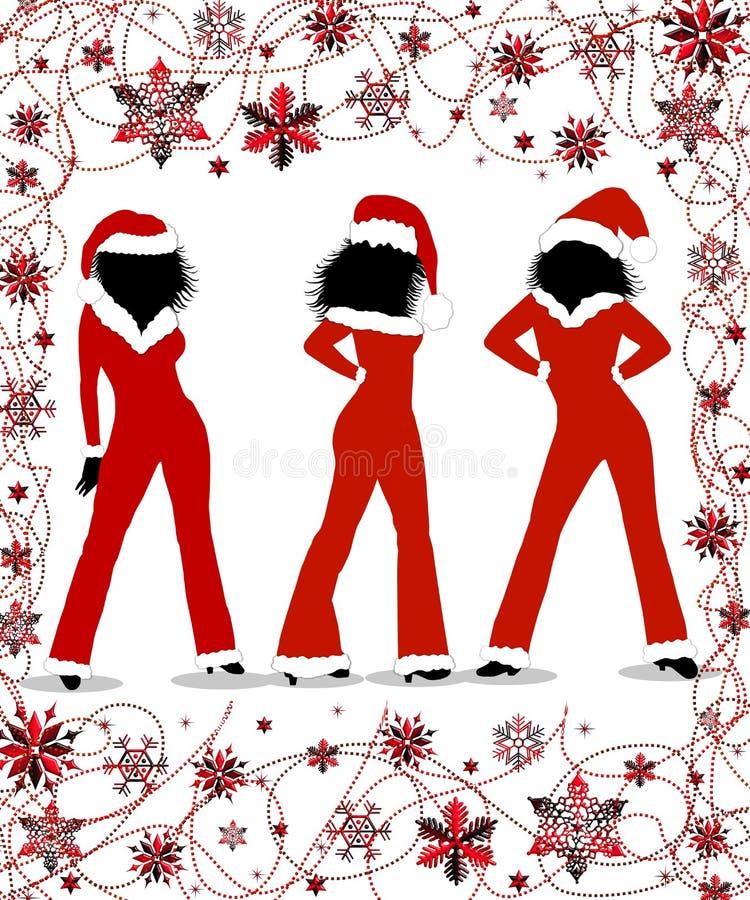 Meninas do Natal ilustração do vetor