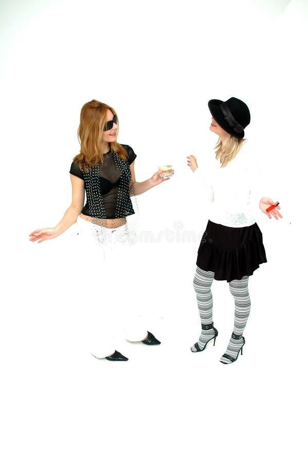 Meninas do punk fotos de stock
