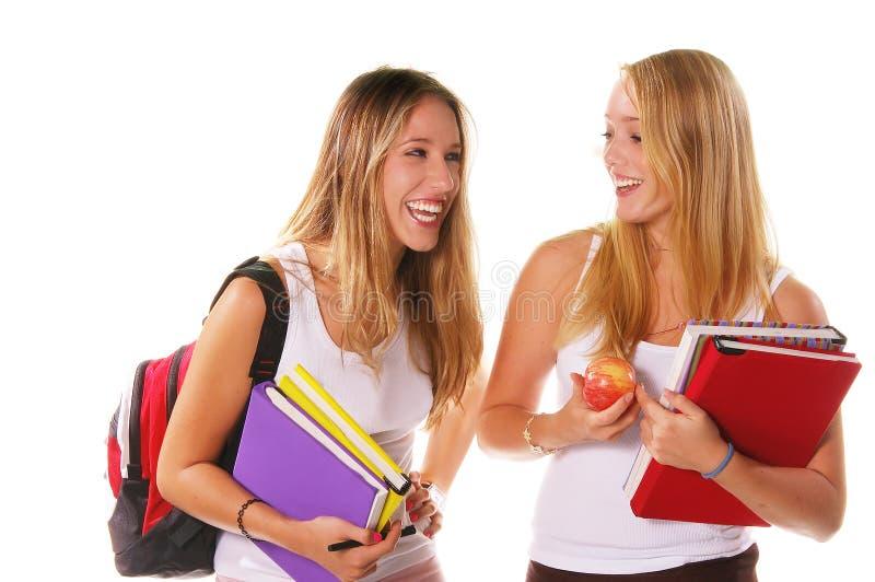Meninas do sénior de High School fotos de stock
