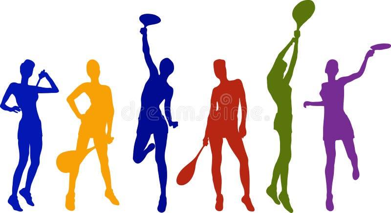 Meninas do tênis ilustração royalty free