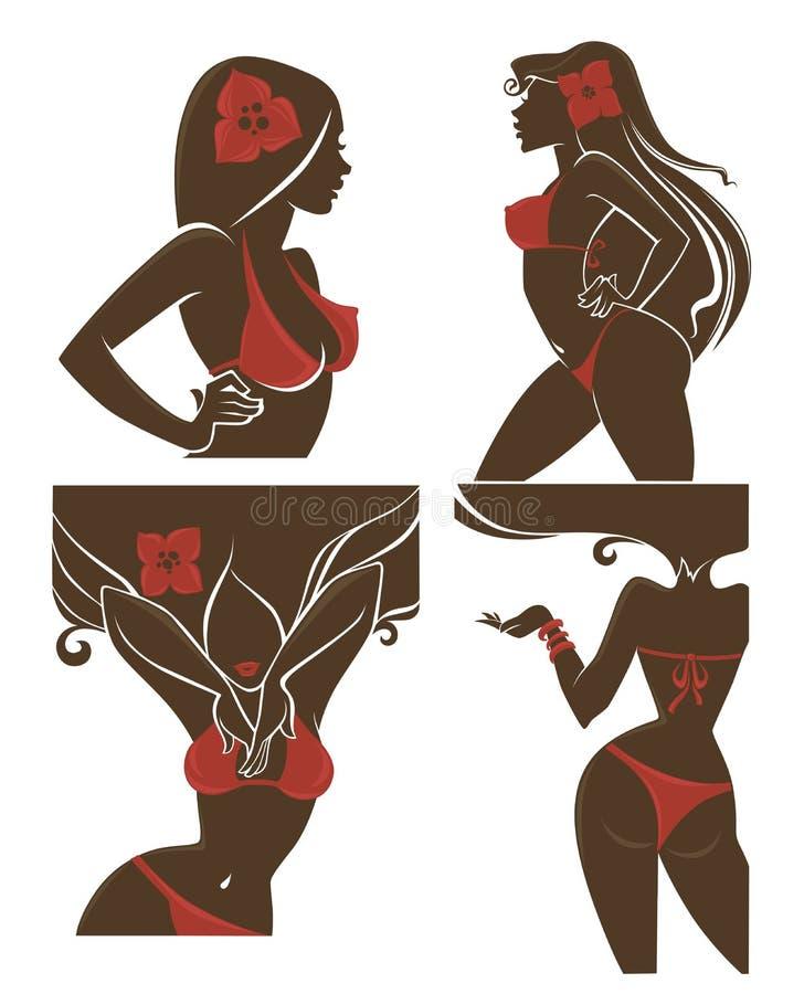 Meninas do verão ilustração do vetor