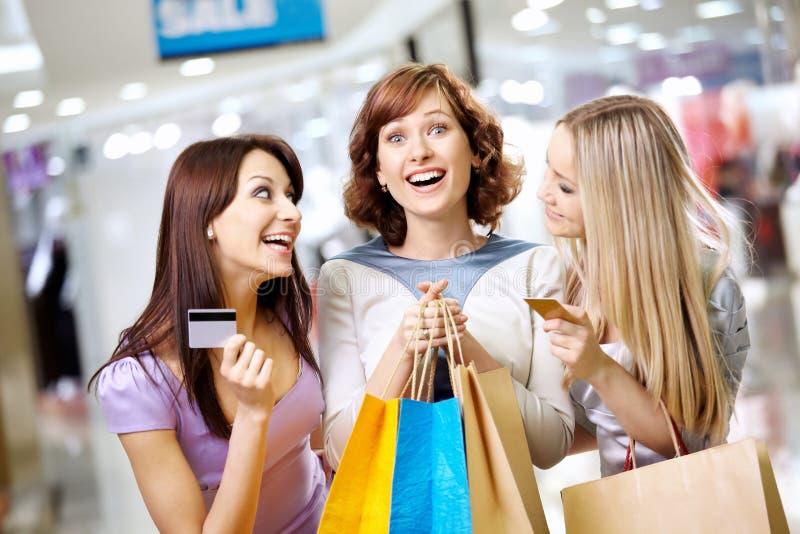 Meninas e cartões fotos de stock royalty free