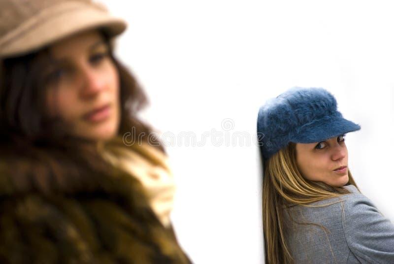 Meninas irritadas imagem de stock