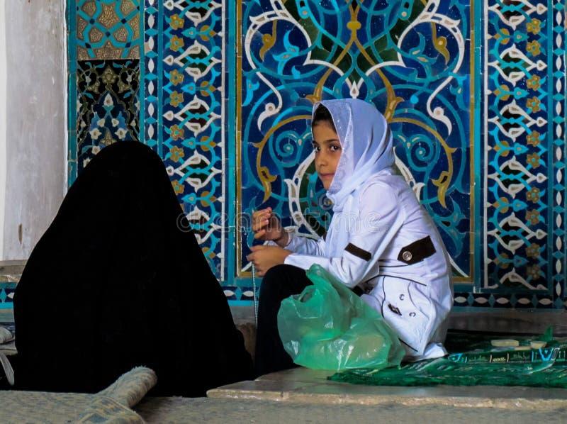 Meninas na mesquita fotografia de stock
