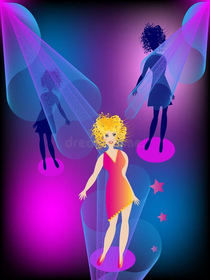 Meninas no partido ilustração royalty free
