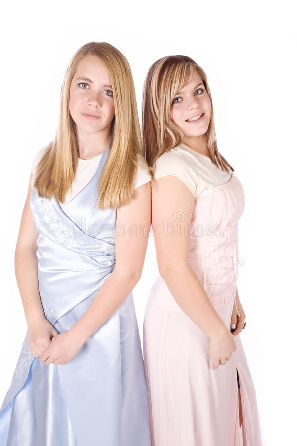 Meninas nos formals imagens de stock