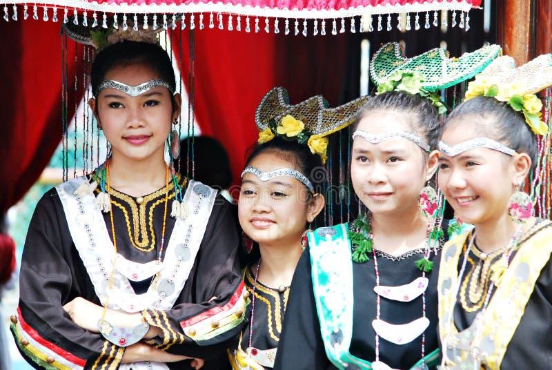 Meninas novas de Bisaya imagens de stock