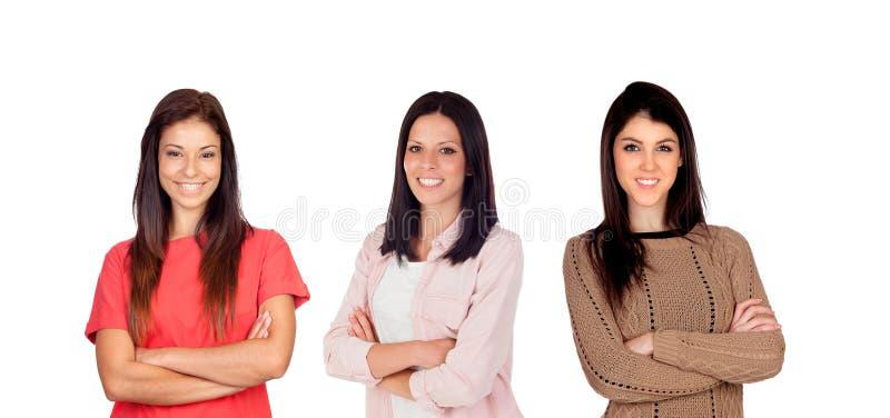 Meninas ocasionais fotos de stock royalty free