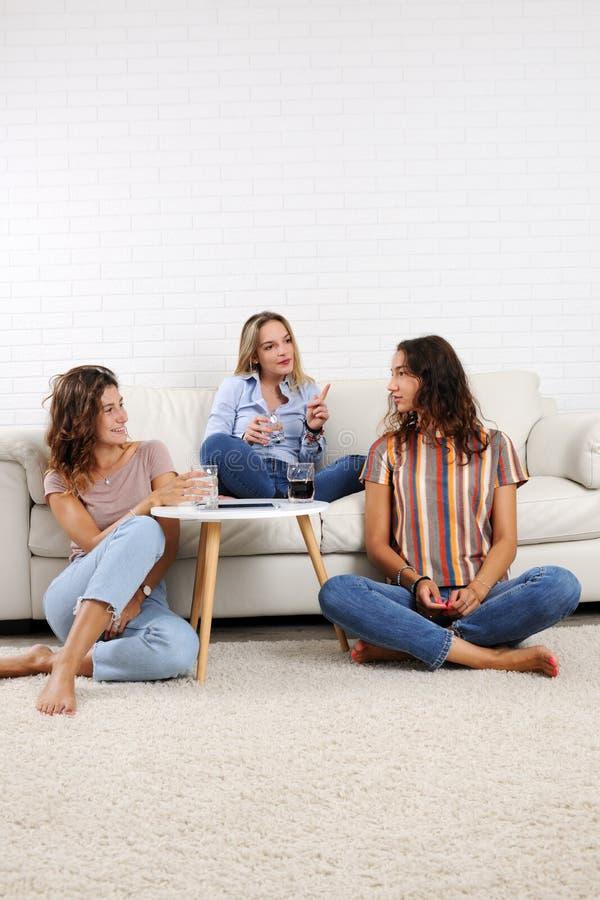 Meninas que relaxam em casa fotos de stock