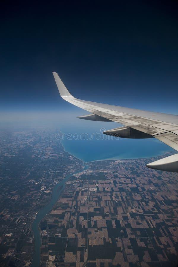 Mening 2 van het Venster van het vliegtuig royalty-vrije stock afbeelding