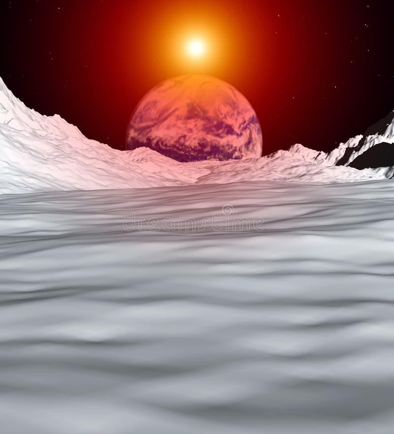 Mening 5 van de maan vector illustratie