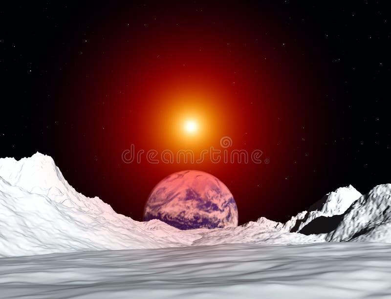Mening 50 van de maan stock illustratie