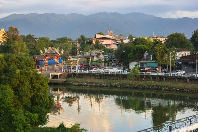 Mening aan Chanthaburi-Rivier royalty-vrije stock foto's