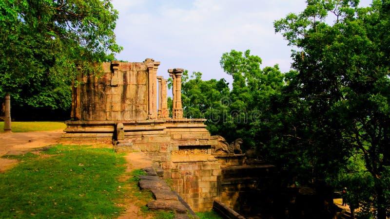 Mening aan citadel van Yapahuwa, oude hoofdstad van Sri Lanka stock foto