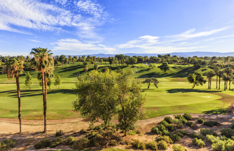 Mening aan de Golfclub in Palm Springs, Californië royalty-vrije stock foto