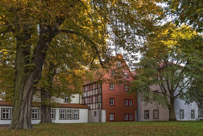 Mening aan een deel van de historische stad Muehlhausen royalty-vrije stock foto