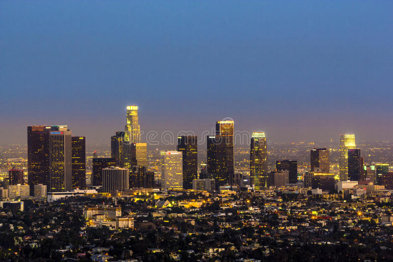 Mening aan Los Angeles van de binnenstad stock afbeeldingen