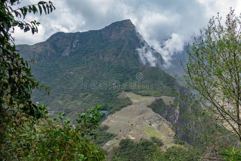 Mening aan Machu Picchu van de berg van Hayna Picchu royalty-vrije stock foto