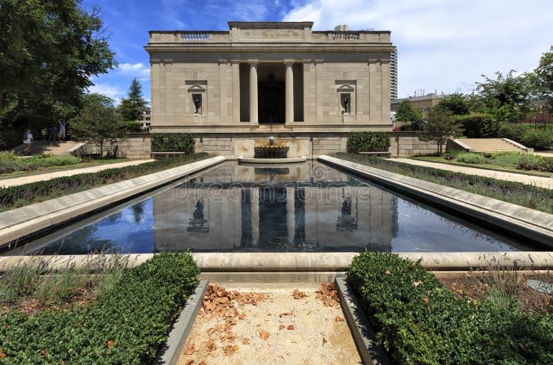 Mening aan Rodin Museum in Philadelphia, Pennsylvania, de V.S. stock foto
