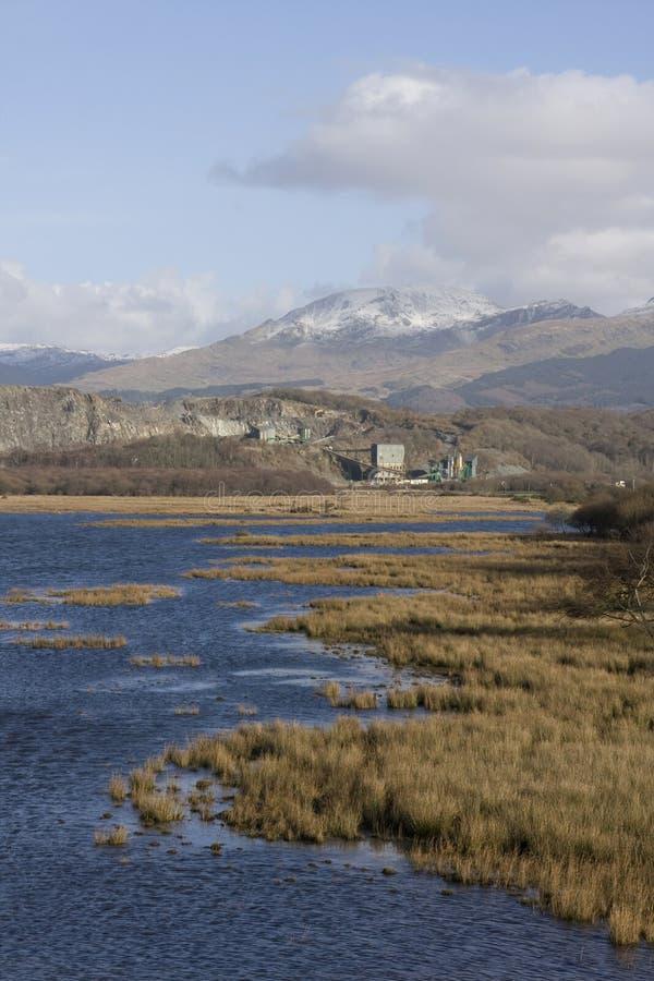 Mening aan Snowdonia royalty-vrije stock fotografie