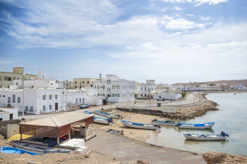 Mening aan Sur-haven in Oman royalty-vrije stock afbeeldingen