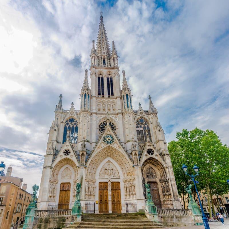 Mening bij de Basiliek van Heilige Epvre in Nancy - Frankrijk royalty-vrije stock afbeeldingen